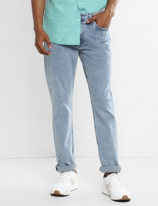 Levis solid sky blue 511slim fit jeans