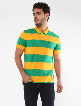Levis striped pattern yellow and green t-shirt