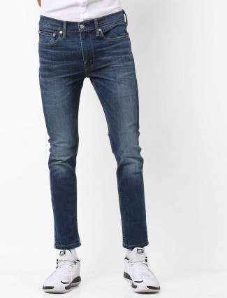 Levis strong blue whiskerd effect jeans