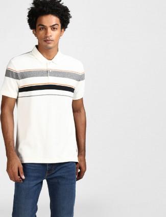 Levis white stripe cotton t-shirt