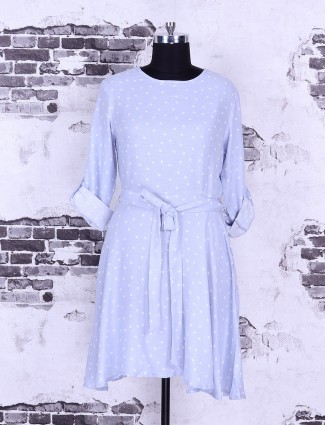 Light blue cotton casual top