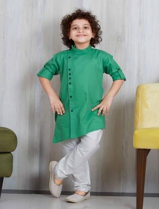 Light green boys party wear kurta suit