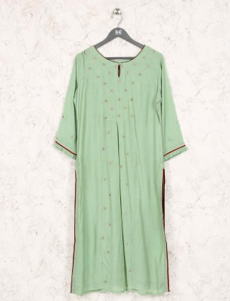 Light green designer festive kurti
