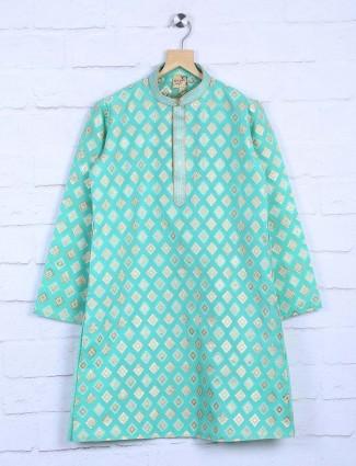 Light green hued cotton fabric kurta suit