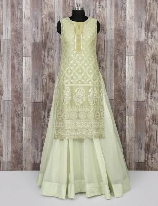 Light green wedding wear salwar suit