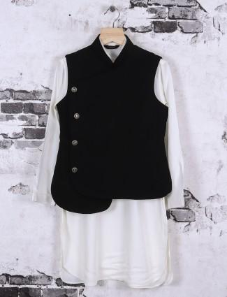 light grey and black silk waistcoat for boys