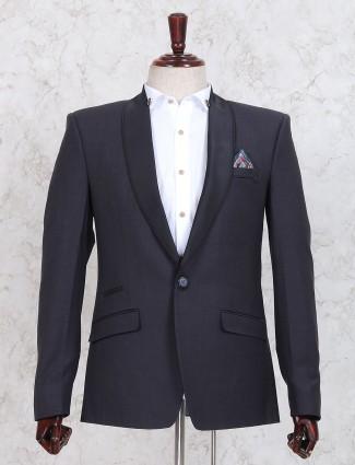 Light navy plain blazer