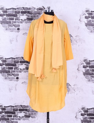 Light orange cotton top for casual wear