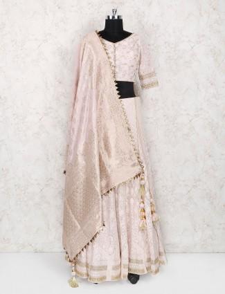 Light pink georgette designer lehenga choli