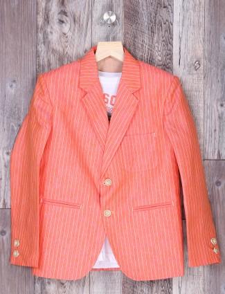 Lining peach hue party blazer