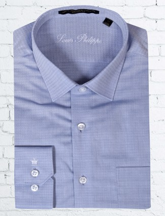 Louis Philippe blue printed shirt