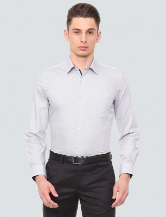 Louis Philippe printed grey hued shirt