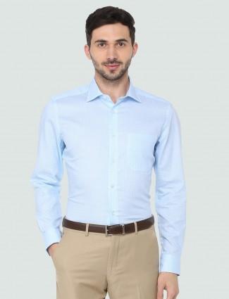 Louis Philippe printed sky blue shirt