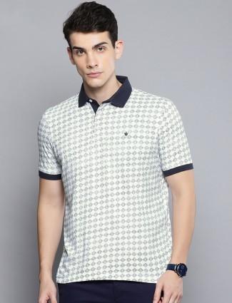 Louis Philippe white cotton t-shirt
