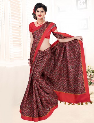 Lovely brown colored saree