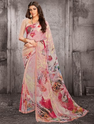 Lovely printed georgette saree