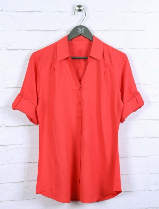 Lovely red color cotton top