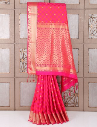 Lovely wedding wear saree in silk fabric
