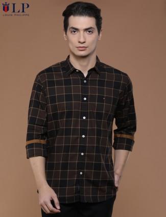 LP brown black hue casual shirt