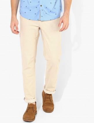 LP cream cotton trouser