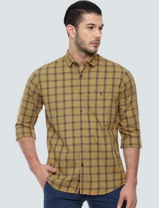 LP Sport beige checks cotton shirt