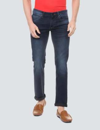 LP Sport navy colored solid slim fit jeans