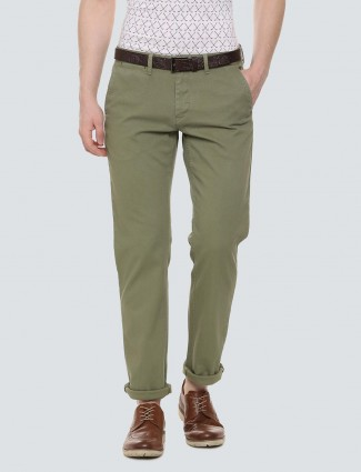 LP Sport olive hued cotton fabric trouser