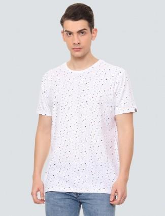 LP Sport printed white hued t-shirt