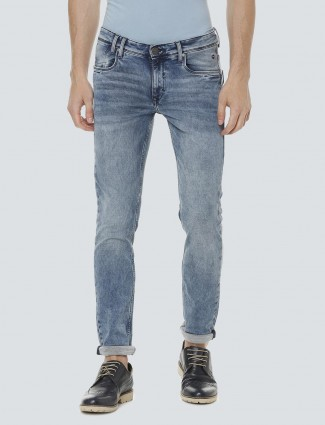 LP Sport solid blue colored jeans