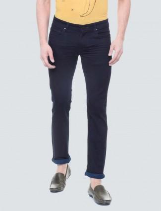 LP Sport solid navy whiskres pattern jeans