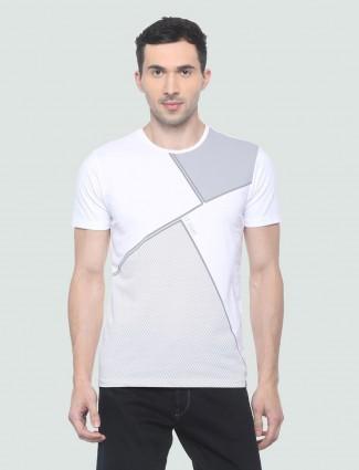 LP Sport white printed cotton t-shirt