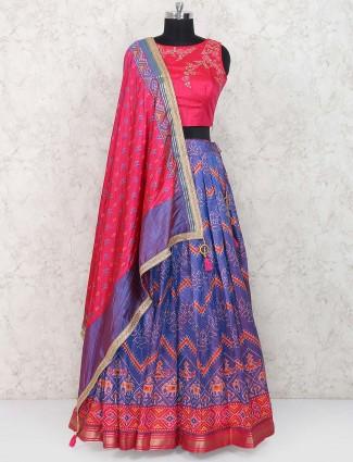 Magenta color patola silk festive lehenga choli