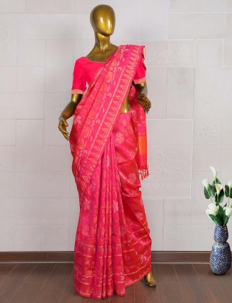 Magenta color pure south silk saree