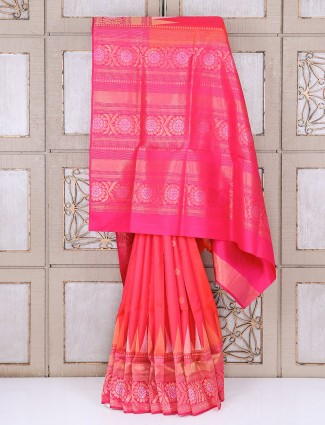 Magenta dressy kanjivaram silk wedding saree