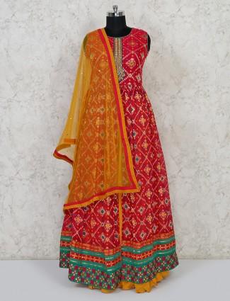 Magenta patola silk wedding lehenga suit