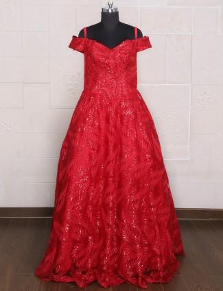 Mageta silk weding wear gown