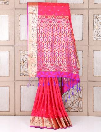 Magneta awesome wedding wear saree