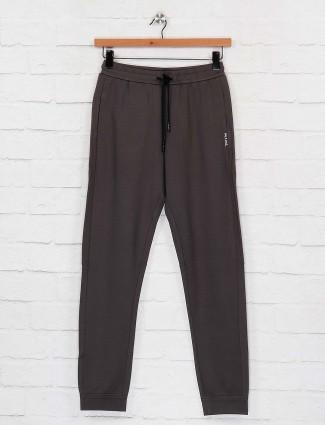Maml dark grey night solid track pant