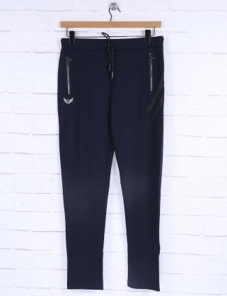 Maml dark navy solid track pant