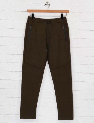 Maml night wear olive hue solid pant