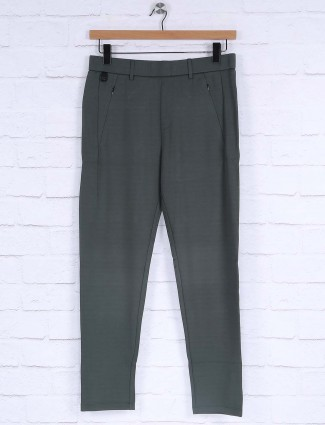 Maml olive colored solid track pant
