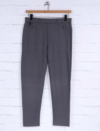 Maml solid grey mens track pant