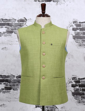 Mans olive color waistcoat