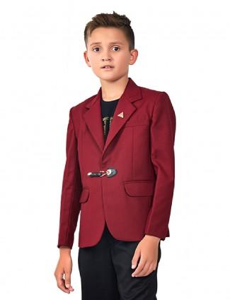 Maroon color boys blazer
