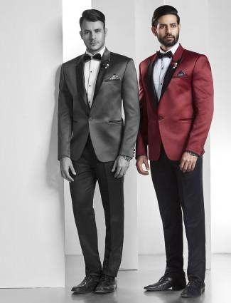 Maroon tuxedo coat suit