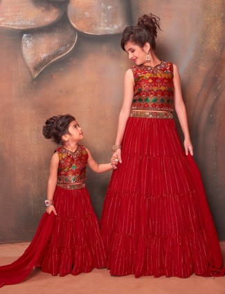 Maroon wedding days designer lehenga choli