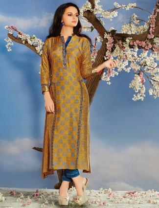 Masturd silk printed kurti