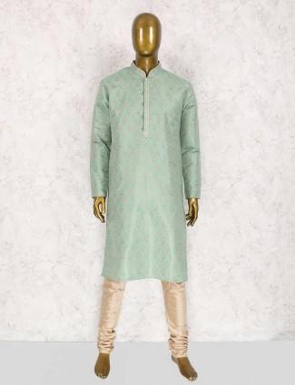 Mint green wedding wear kurta suit