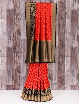 MP silk red classy saree