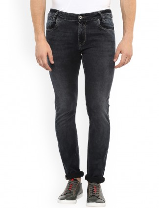 Mufti black hue slim fit jeans